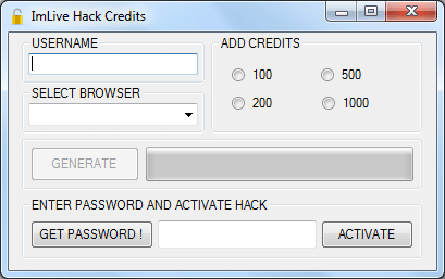 ImLive Hack Credits