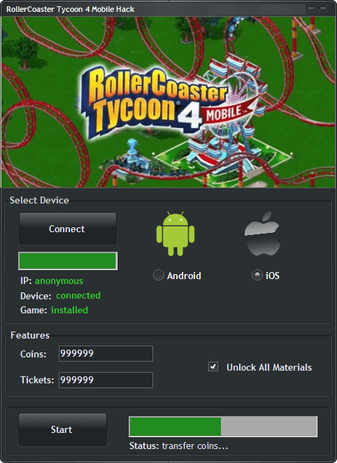 RollerCoaster-Tycoon-4-Mobile-Hack