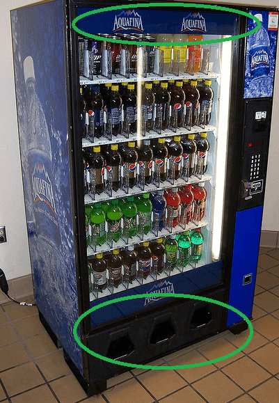 hack vending machine code