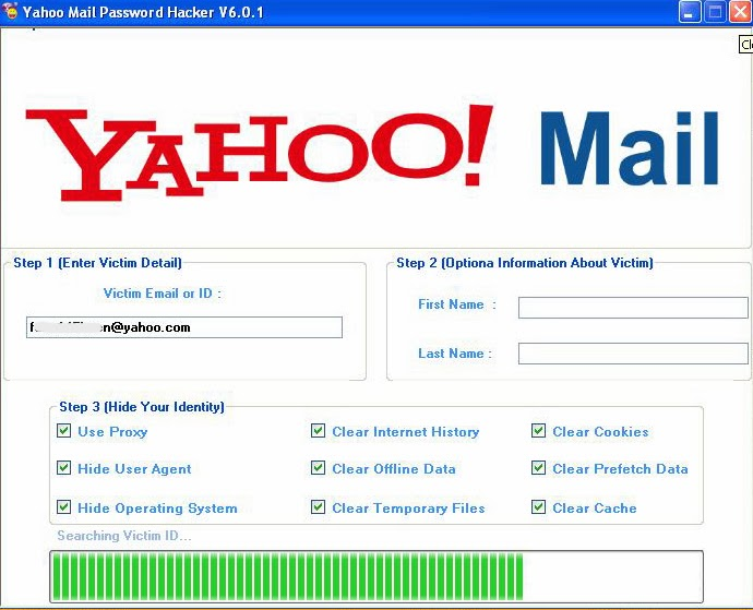 yahoo password hack